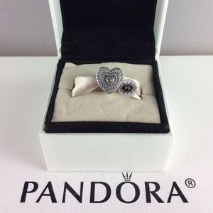 New Pandora Lavish Heart Charm 792081FCZ